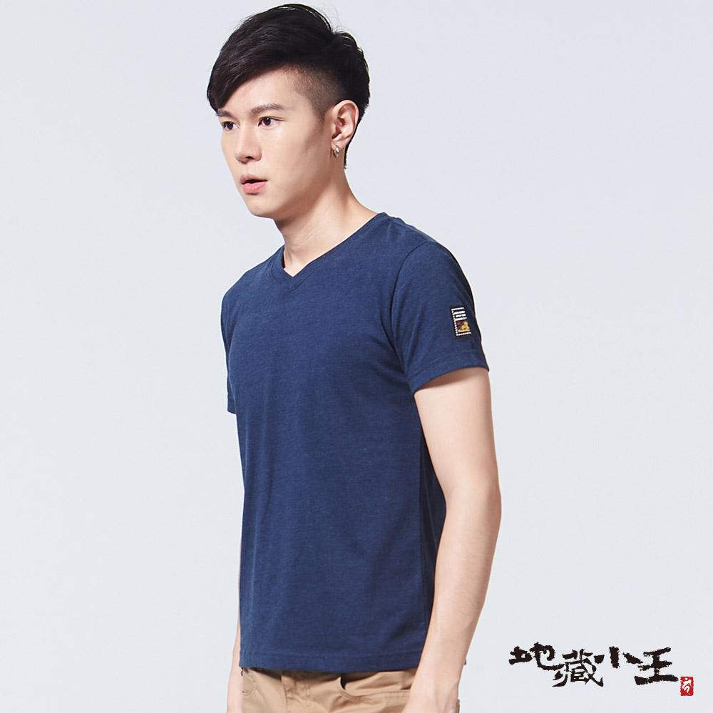 地藏小王 BLUE WAY 印標繡花單件包短TEE-丈青