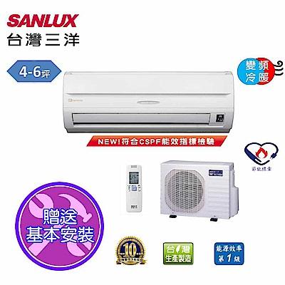 台灣三洋SANLUX 4-6坪精品變頻冷暖一對一分離式SAE-28VH7/SAC-28VH7