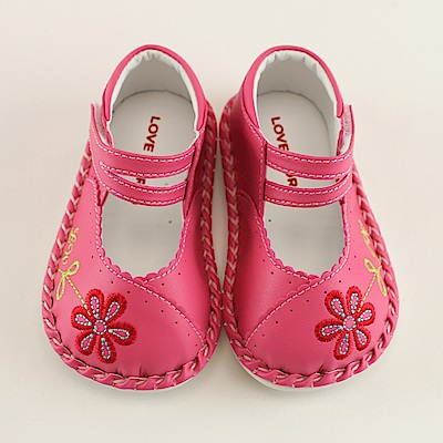 愛的世界 森林花朵寶寶鞋/學步鞋-台灣製-
