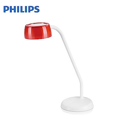 飛利浦 PHILIPS LIGHTING 酷琥LED檯燈-火焰紅 72008