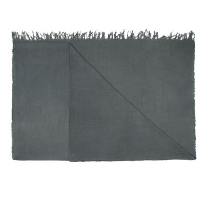 Alviero Martini 義大利地圖 素面水鑽LOGO絲巾-灰(70X200)