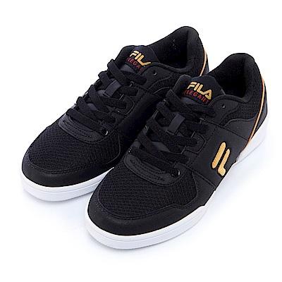 FILA 女款復古運動鞋-黑 5-C301S-028