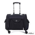 AOU 超輕拉桿化妝箱 新秘專業彩妝箱 工具箱 行李登機箱(黑)26-043