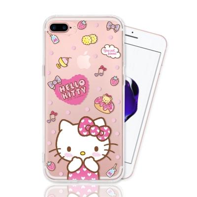 HELLO KITTY iphone 7 Plus 彩繪空壓手機殼-甜點