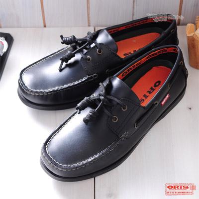 ORIS 《女》斬紋大底帆船鞋款~黑