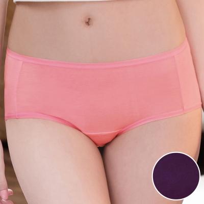 華歌爾 環保奈米級 咖啡紗M-LL中腰三角褲(煙燻紫)