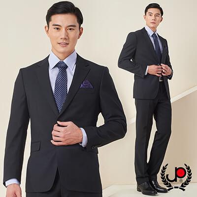 極品西服-品味紳士提點羊毛西裝_黑(AS605-3G)