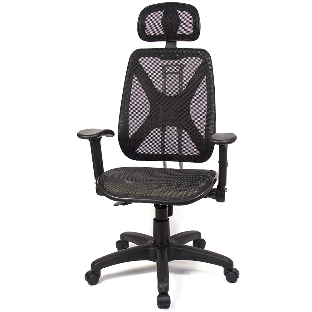 aaronation - 機能性椅背辦公/電腦網椅(DW-105H升降扶手枕)