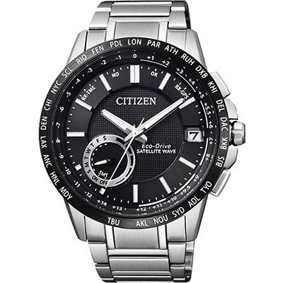 CITIZEN GPS光動能衛星對時萬年曆錶(CC3007-55E)-黑/44.5mm