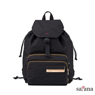 satana - 愜意旅途兩用後背包 - 黑色