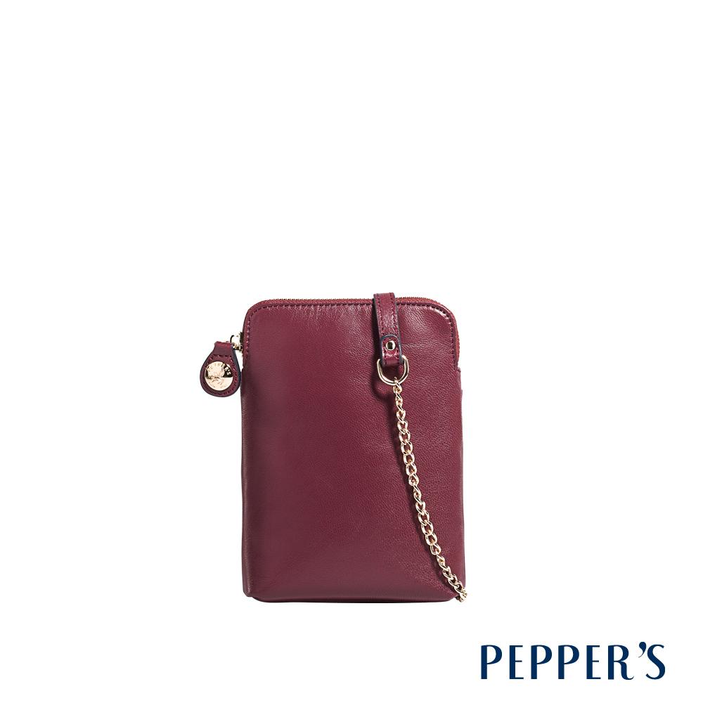 PEPPER'S Ellie 羊皮隨身小包 - 櫻桃紅