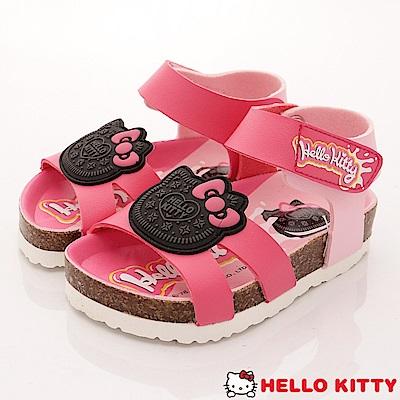 HelloKitty童鞋 餅乾造型軟木涼鞋款 EI18138桃(小童段)