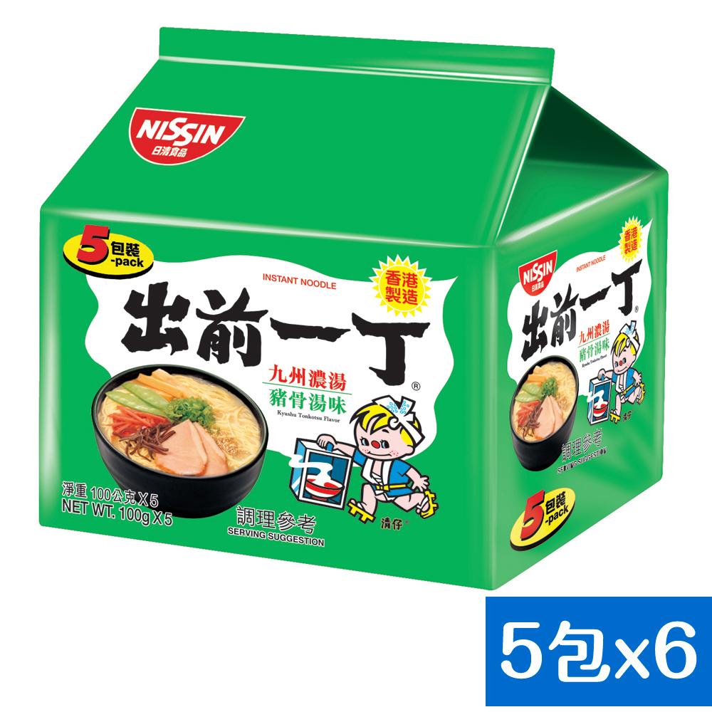 日清 出前一丁九州濃湯豬骨湯味速食麵(100gx30入)