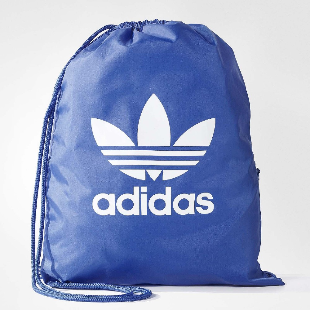 adidas Trefoil Gym Sack 束口袋 藍 白