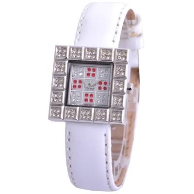 Cloie甜心晶鑽方程式時尚女錶-紅/23mm