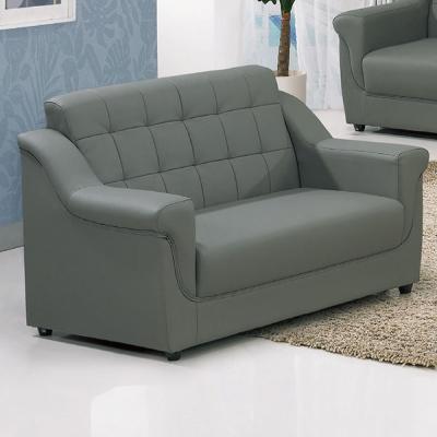 品家居 雲山皮革灰色雙人座沙發