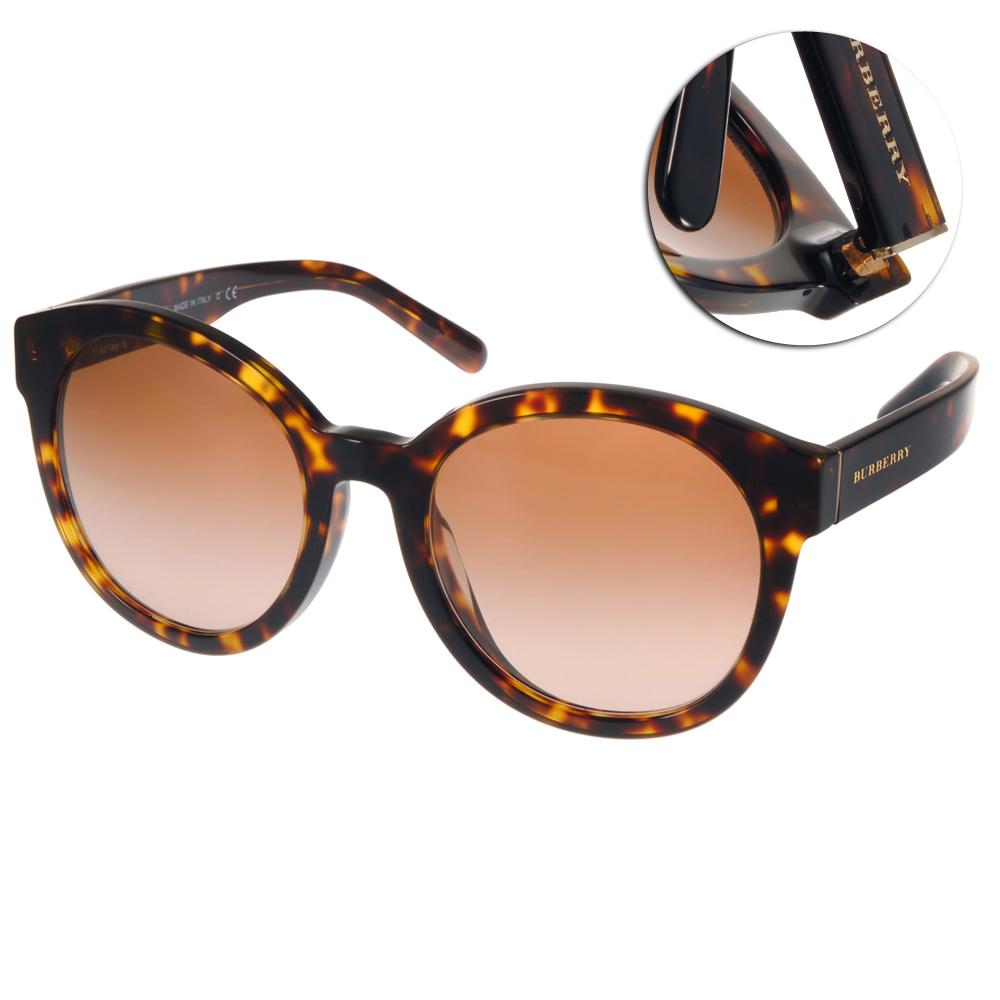 BURBERRY太陽眼鏡 復古圓框/琥珀棕#BU4231D 300213