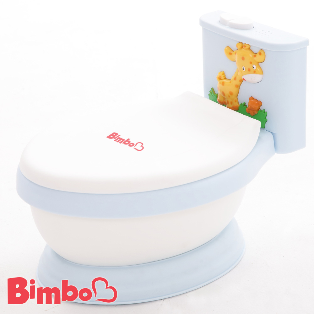 專利兒童音樂馬桶 淺藍色 台灣製造【BIMBO】
