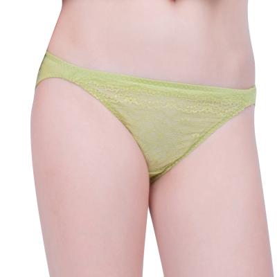 思薇爾 星采系列M-XL蕾絲低腰三角褲(嫩芽綠)