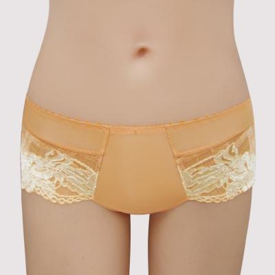 曼黛瑪璉-15SS-V極線-低腰平口蕾絲褲-杏蜜橘