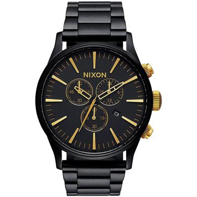 NIXON  藍調搖滾潮流運動腕錶-A3861041/42mm