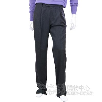 BOSS 鐵灰色抓褶西裝褲