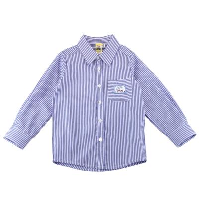 愛的世界 MYBEAR 純棉知性風薄長袖襯衫/4~6歲