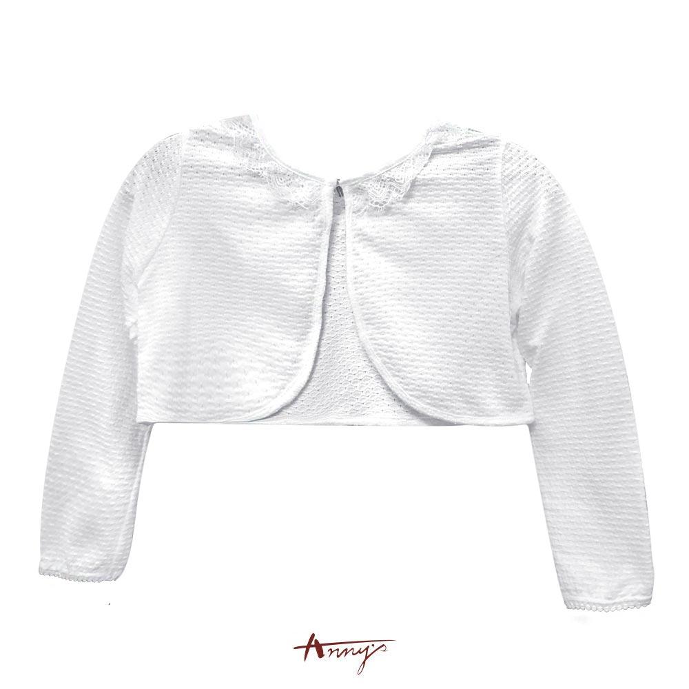 Annys夢幻蕾絲領透視透氣質感小外套*7418白