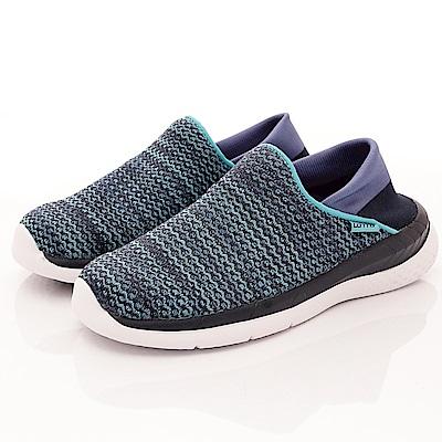 Lotto樂得-襪套式針織後跟鞋-XSI000藍(女段)