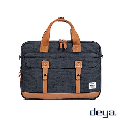 deya 都會型格電腦公事包-黑色