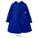 Annys高級皇家精釦大氣毛料大衣*5679藍