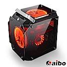 金剛 USB3.0 四面鍍銀鏡面鋼化玻璃 高階電競機殼(紅燈)