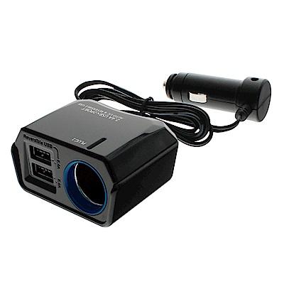 YAC 4.8A雙USB冷光單孔延長插座(PZ-789)-急速配