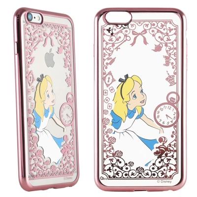 Disney迪士尼iPhone 6/6S Plus電鍍彩繪保護套-公主系列