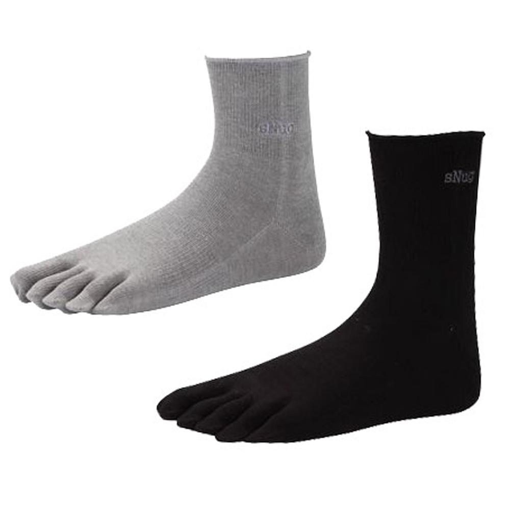 SNUG 健康除臭襪 2雙入高彈力 科技五指襪 (S020-S021)