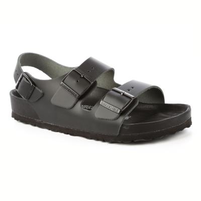 勃肯BIRKENSTOCK 948211。米蘭繫踝二條拖鞋(黑)