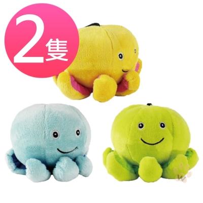 彩色章魚八腳保羅絨毛發聲玩具 隨機出色 (2隻入)