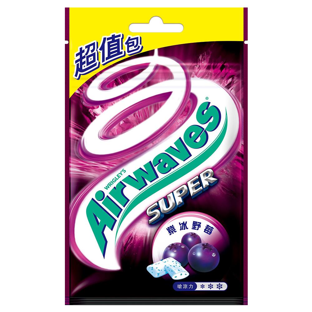 Airwaves 無糖口香糖紫冰野莓口味重量包(44粒)
