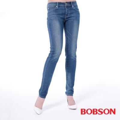 BOBSON 女款低腰有機棉小直筒褲