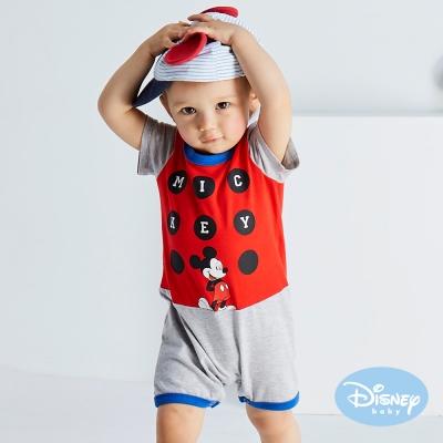 Disney baby 歡樂圈圈米奇連身裝 紅色