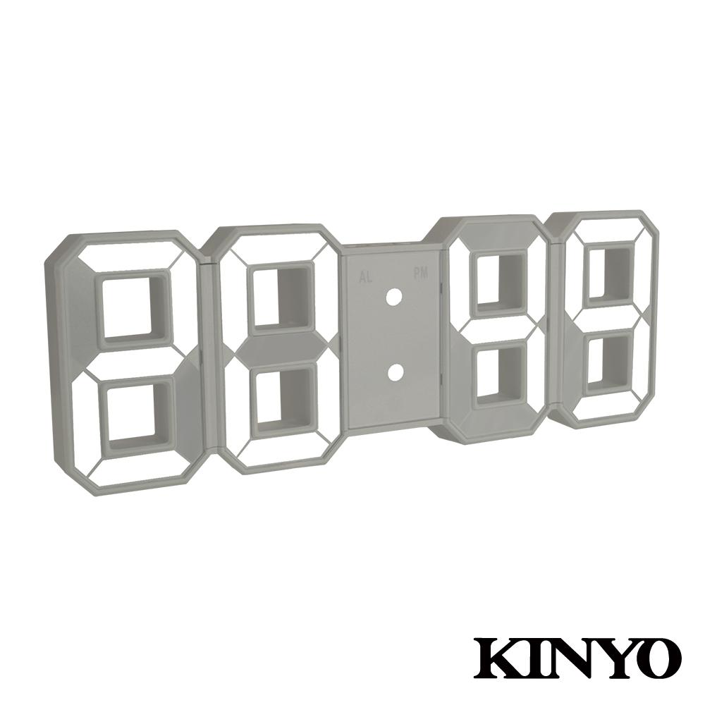 【KINYO】LED立體數字鐘 (TD-395)
