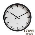 LOVEL 25cm淨白里程膠框靜音壁掛時鐘(P2505-WH)