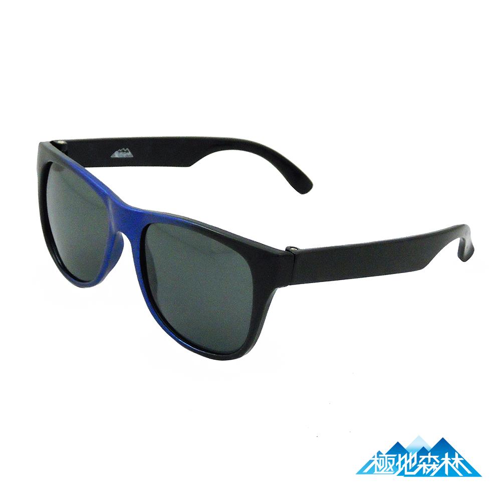 【極地森林】兒童深灰色黑藍框偏光鏡片運動太陽眼鏡3818 - 快速到貨