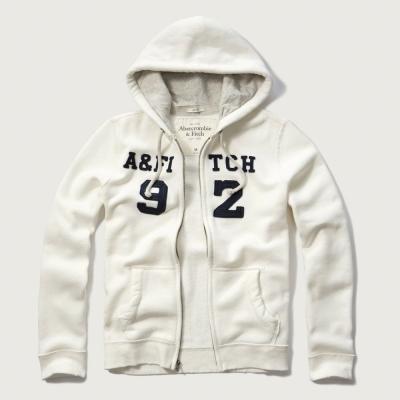 AF a&f Abercrombie & Fitch 長袖 連帽外套 白色 278