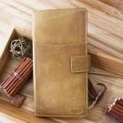 CALTAN - 女用真皮皮夾長夾手帳式多功能護照套護照夾-1777ht