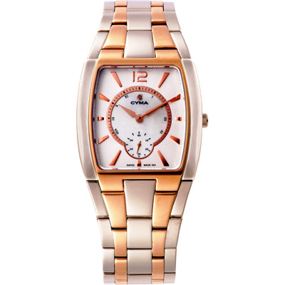 CYMA司馬 絕愛經典超薄時尚腕錶-玫瑰金