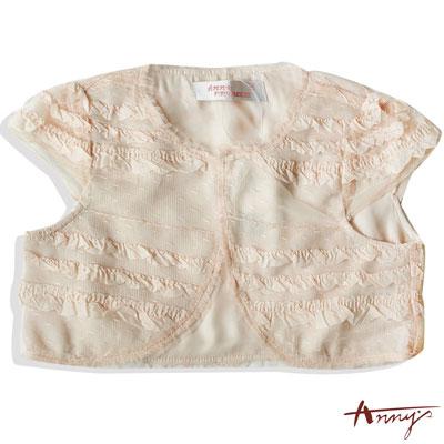 華麗雪紡荷葉網紗小外套*3197粉