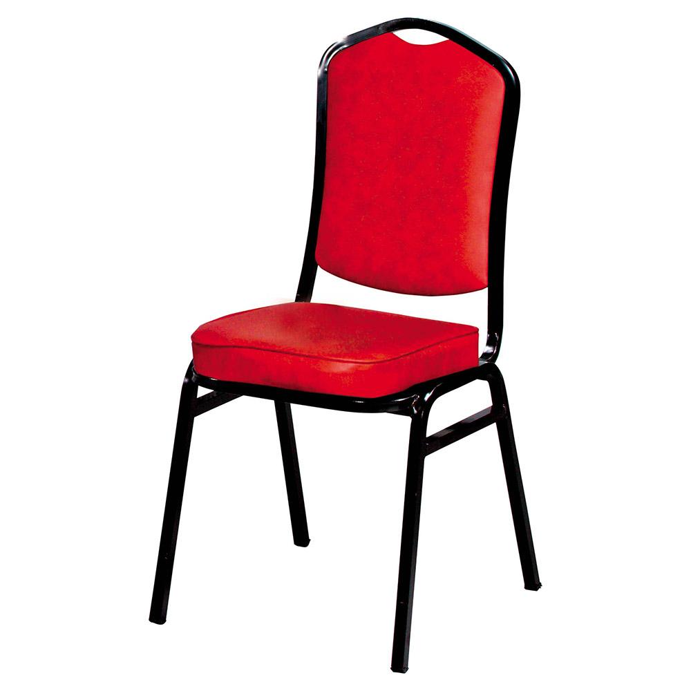 H&D 紅雲彩富士黑腳餐椅 (寬42X深51X高94cm)