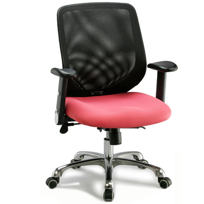 aaronation 適透氣網背電腦椅/辦公椅-優雅粉(i-RS143SGA)