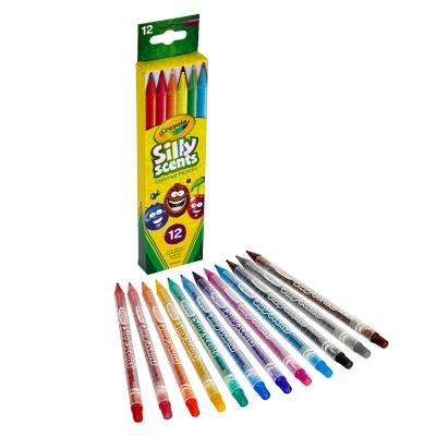 美國 Crayola繪兒樂 白日夢趣味旋轉彩色鉛筆12色(5Y+)